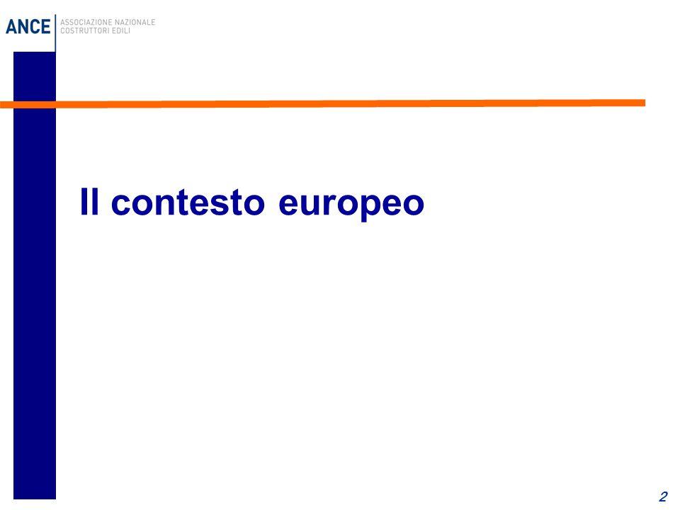 3 Bilancio dell'Unione Europea 2014-2020 Miliardi di euro 2011 La Politica di Coesione, attuata in Italia principalmente con i fondi strutturali, rappresenta circa un terzo del Bilancio pluriennale 2014- 2020 dell'Unione Europea