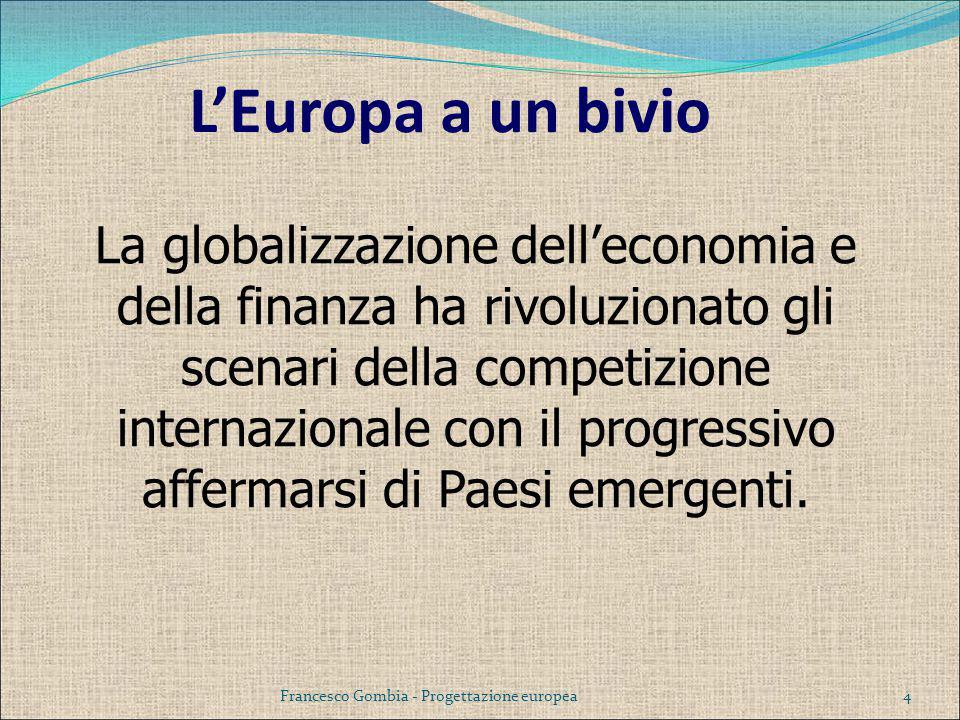 L'Europa a un bivio La globalizzazione dell'economia e della finanza ha rivoluzionato gli scenari della competizione internazionale con il progressivo