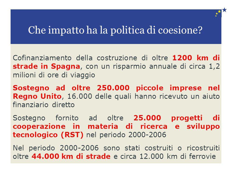 Cofinanziamento della costruzione di oltre 1200 km di strade in Spagna, con un risparmio annuale di circa 1,2 milioni di ore di viaggio Sostegno ad ol