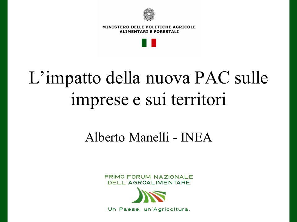 L'impatto della nuova PAC sulle imprese e sui territori Alberto Manelli - INEA