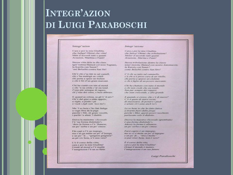 I NTEGR ' AZION DI L UIGI P ARABOSCHI