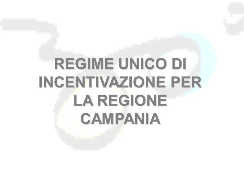 REGIME UNICO DI INCENTIVAZIONE PER LA REGIONE CAMPANIA