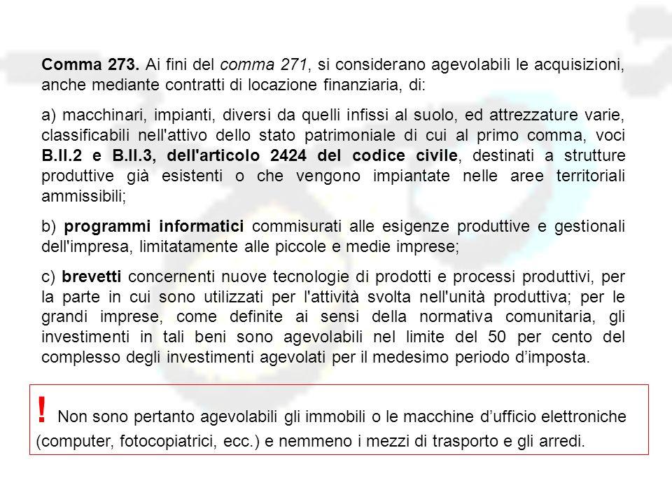 Comma 274.
