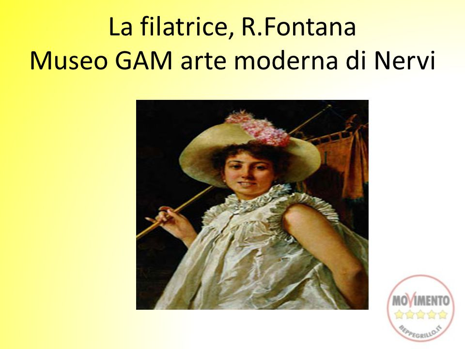 La filatrice, R.Fontana Museo GAM arte moderna di Nervi
