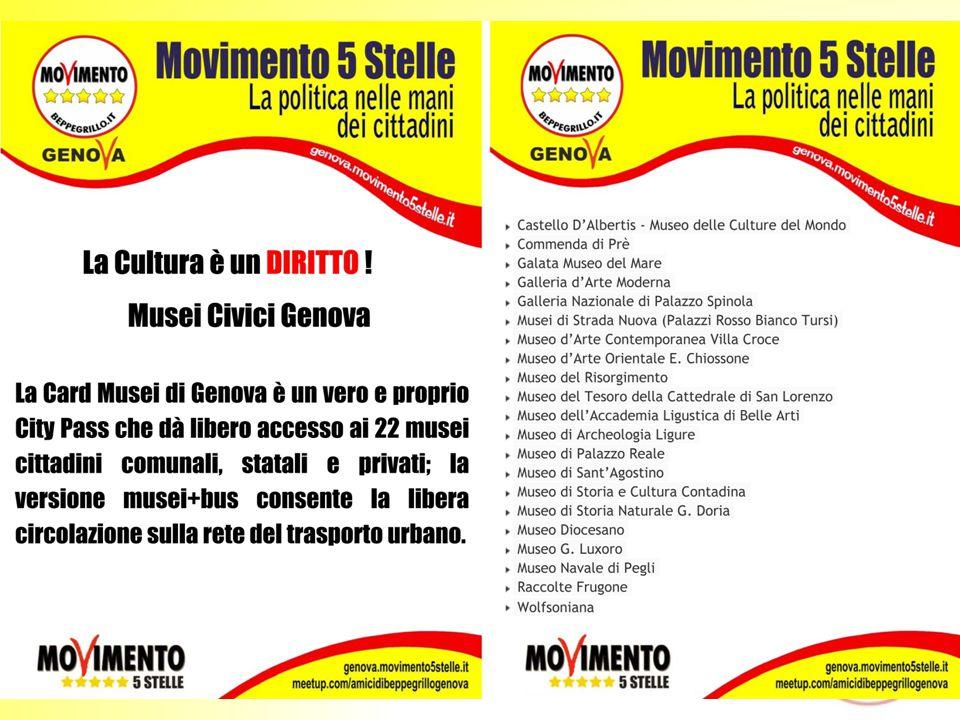 MOVIMENTO 5 STELLE GENOVA Gruppo Cultura LA CULTURA È UNA PRIORITÀ Relazione Teatro Carlo Felice