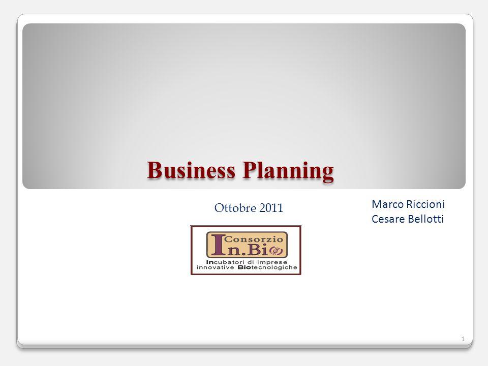 Ottobre 2011 Business Planning 1 Marco Riccioni Cesare Bellotti