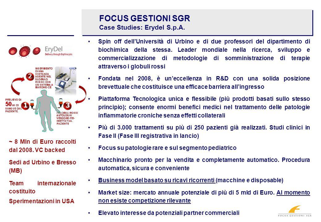 FOCUS GESTIONI SGR Case Studies: Erydel S.p.A.