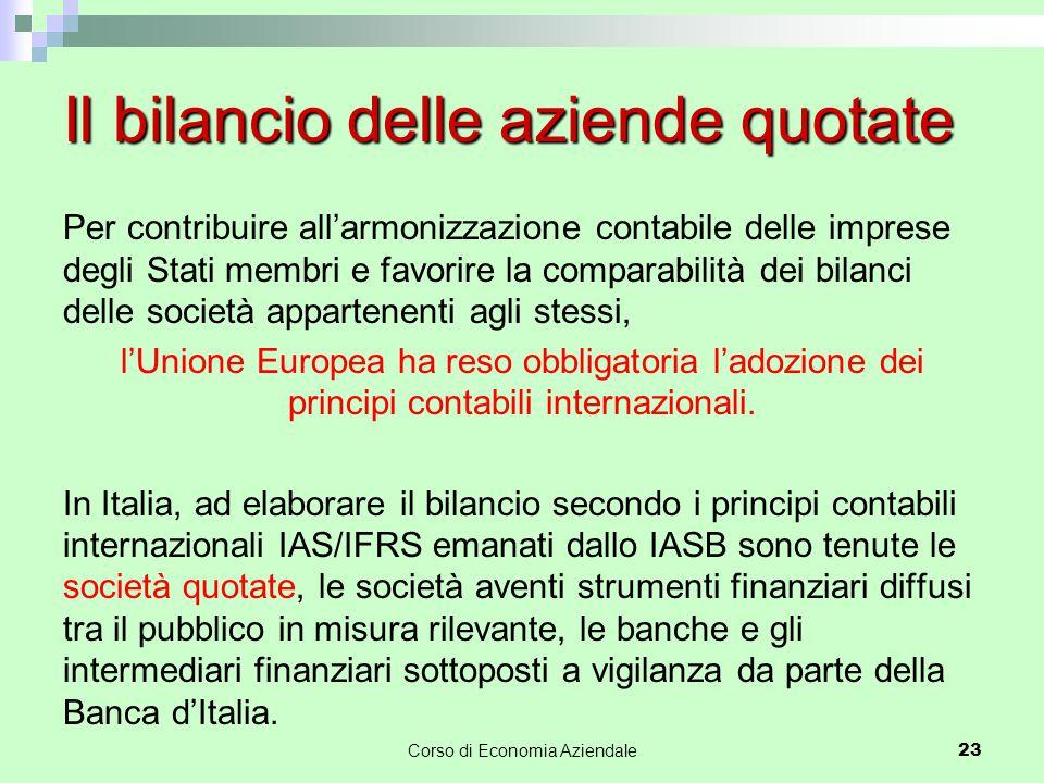 Per contribuire all'armonizzazione contabile delle imprese degli Stati membri e favorire la comparabilità dei bilanci delle società appartenenti agli
