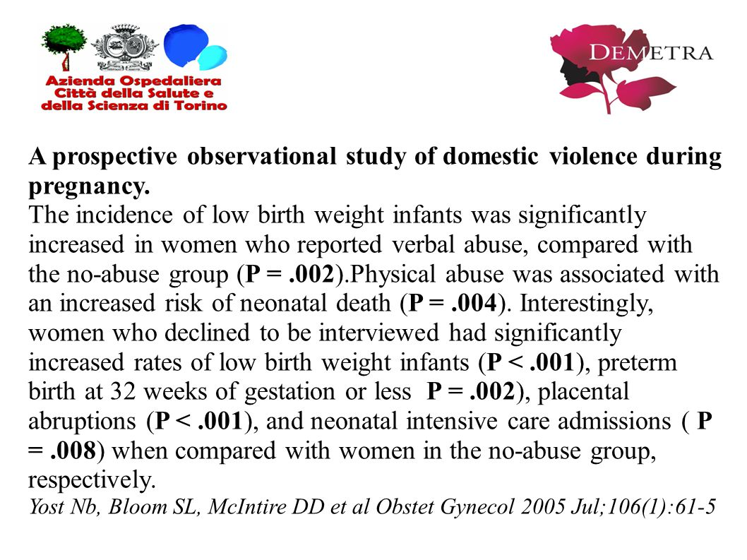 A prospective observational study of domestic violence during pregnancy.
