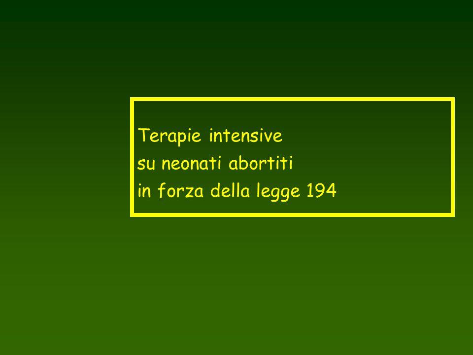Terapie intensive su neonati abortiti in forza della legge 194