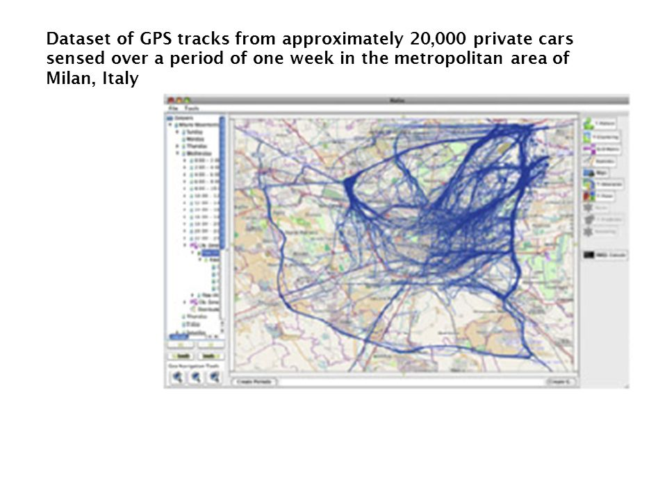 Dataset of GPS tracks from approximately 20,000 private cars sensed over a period of one week in the metropolitan area of Milan, Italy