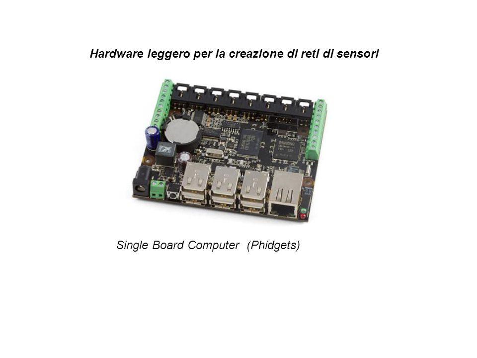 Hardware leggero per la creazione di reti di sensori Single Board Computer (Phidgets)
