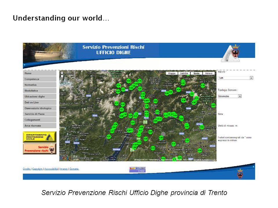 Servizio Prevenzione Rischi Ufficio Dighe provincia di Trento Understanding our world…