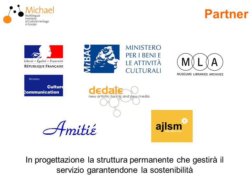 Partner In progettazione la struttura permanente che gestirà il servizio garantendone la sostenibilità