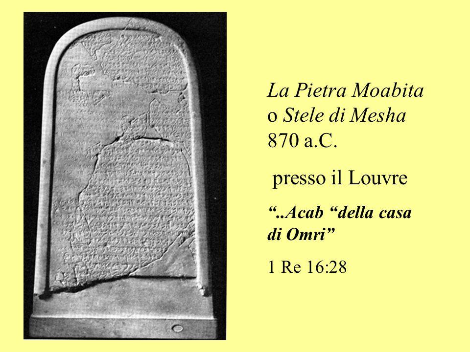 La Pietra Moabita o Stele di Mesha 870 a.C.
