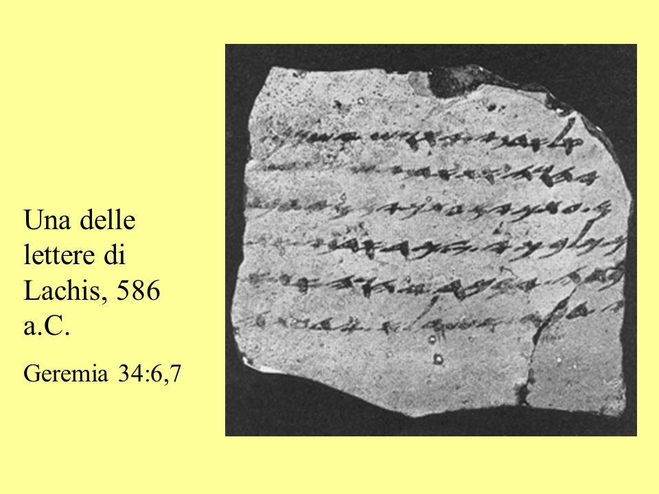 Una delle lettere di Lachis, 586 a.C. Geremia 34:6,7