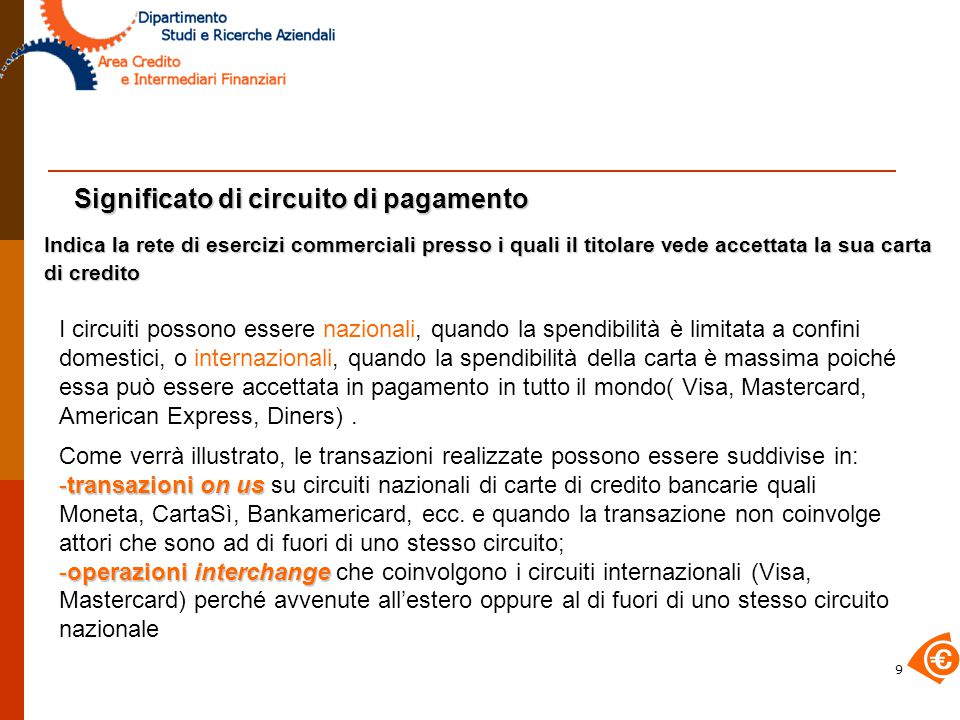 30 Clearing e settlement interchange Per le operazioni interchange , anche nelle operazioni di clearing e settlement è necessario l'intervento dei Circuiti Internazionali.