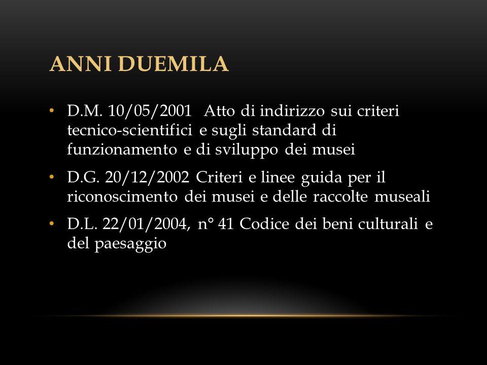 ANNI DUEMILA D.M.
