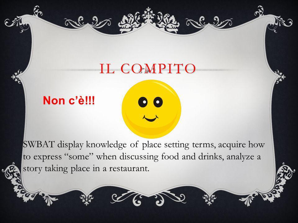 IL COMPITO Non c'è!!.