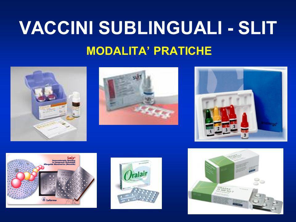 VACCINI SUBLINGUALI - SLIT MODALITA' PRATICHE