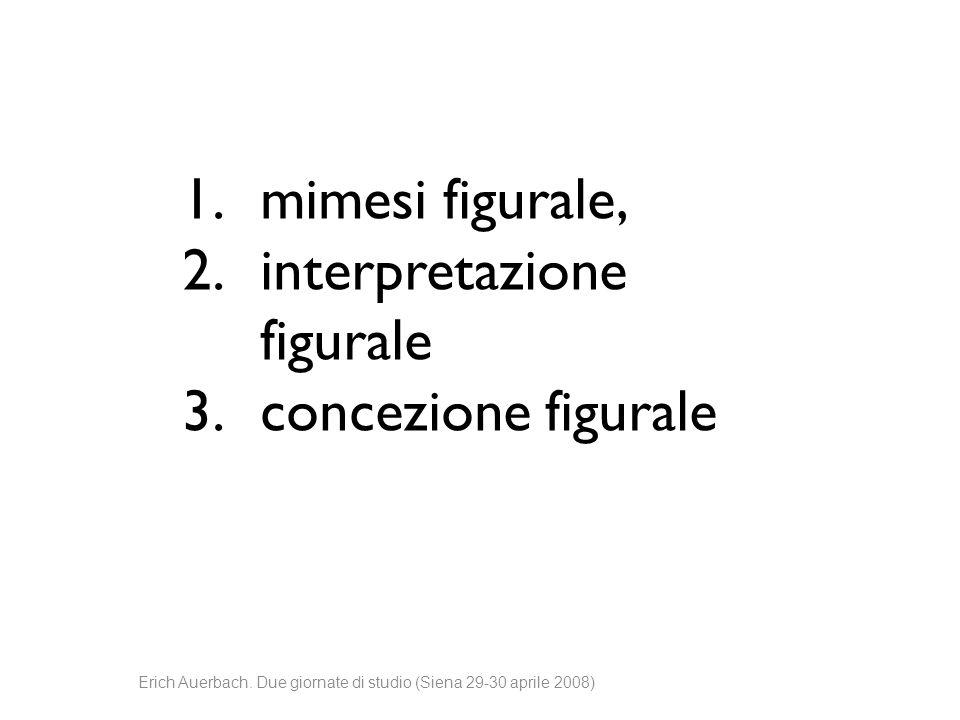 1.mimesi figurale, 2.interpretazione figurale 3.concezione figurale
