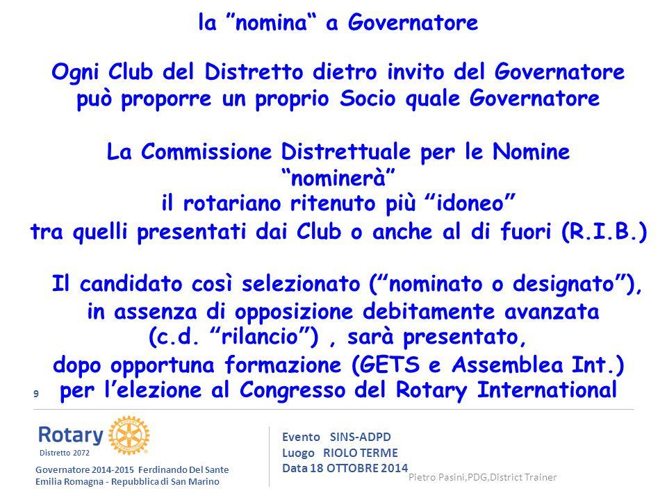 50 Evento SINS-ADPD Luogo RIOLO TERME Data 18 OTTOBRE 2014 ….