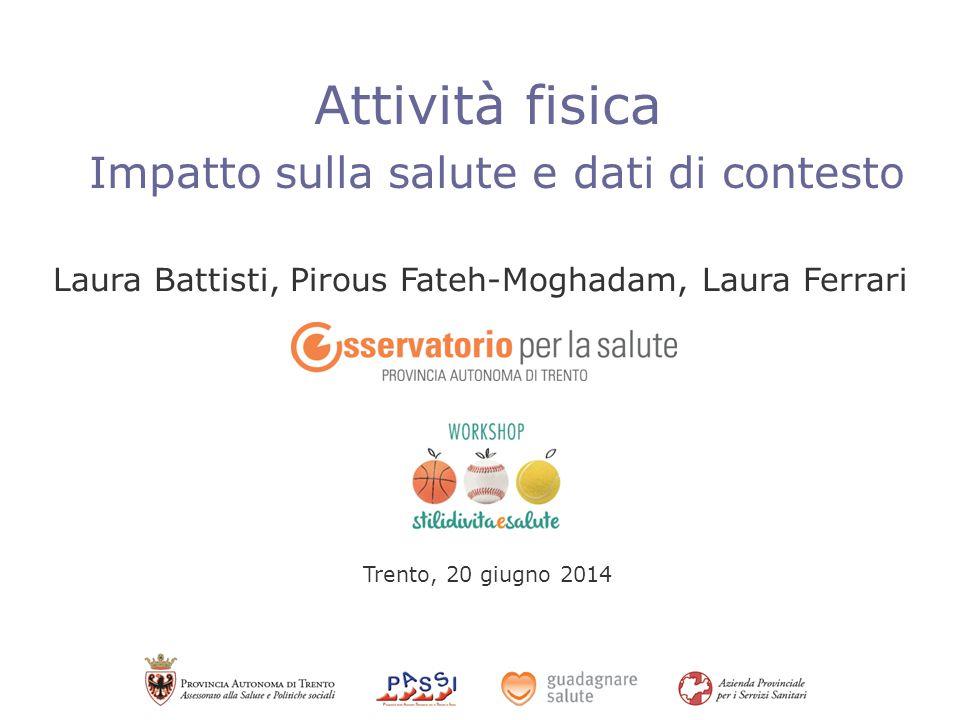 Attività fisica Impatto sulla salute e dati di contesto Laura Battisti, Pirous Fateh-Moghadam, Laura Ferrari Trento, 20 giugno 2014