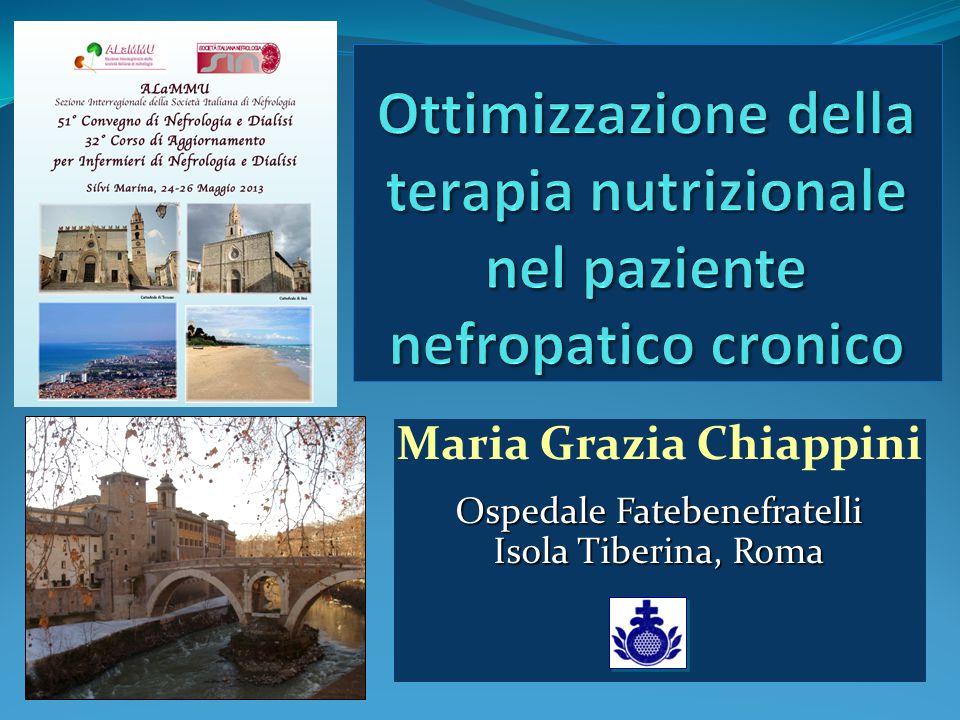 Maria Grazia Chiappini Ospedale Fatebenefratelli Isola Tiberina, Roma