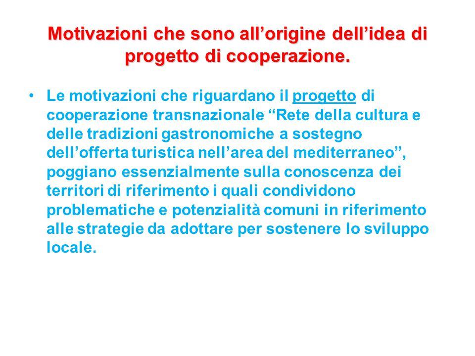 Motivazioni che sono all'origine dell'idea di progetto di cooperazione.