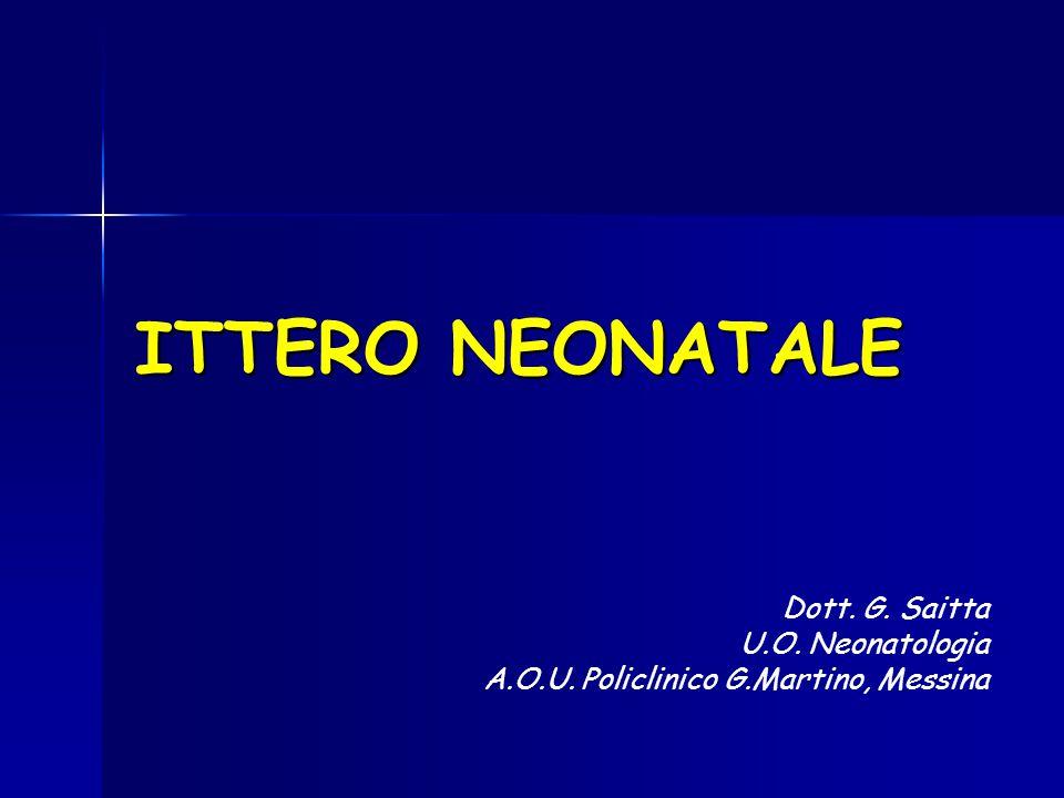 ITTERO NEONATALE Dott. G. Saitta U.O. Neonatologia A.O.U. Policlinico G.Martino, Messina