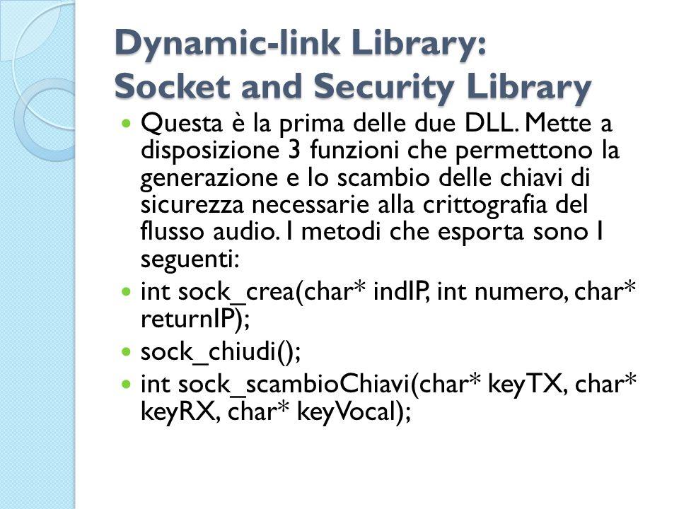 Dynamic-link Library: Socket and Security Library Questa è la prima delle due DLL.