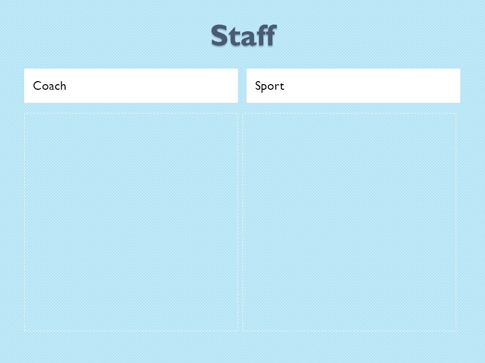 Staff CoachSport