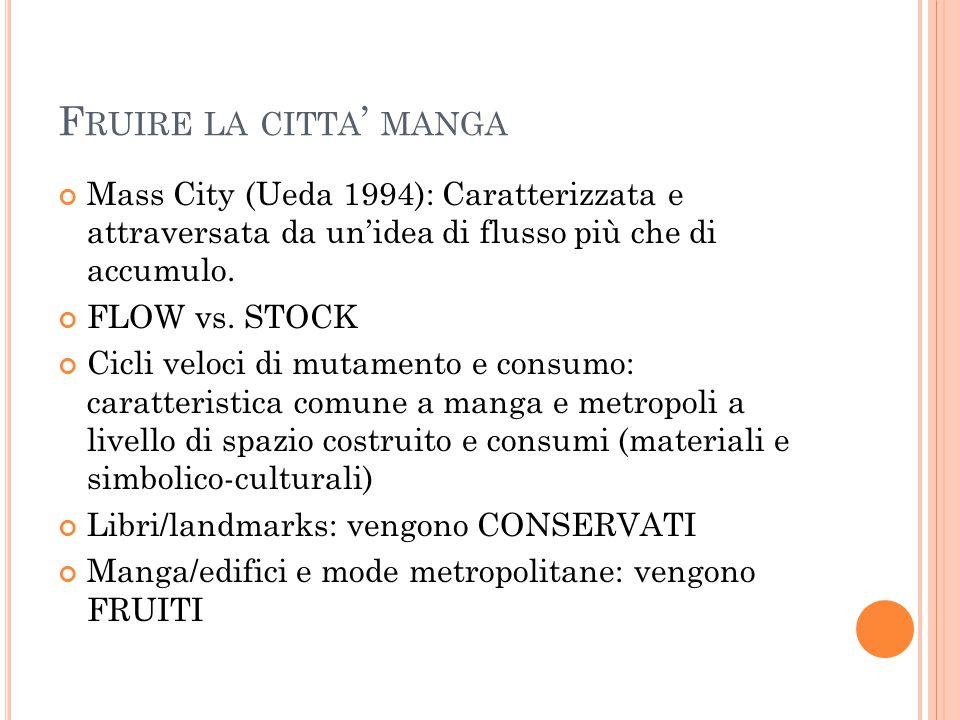 F RUIRE LA CITTA ' MANGA Mass City (Ueda 1994): Caratterizzata e attraversata da un'idea di flusso più che di accumulo.