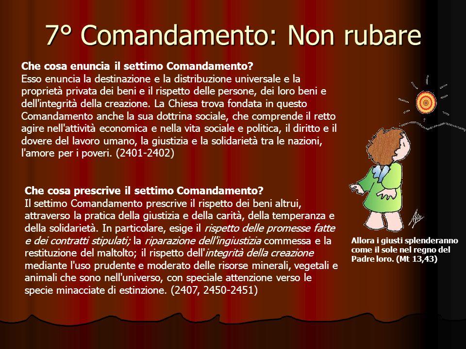 6° Comandamento: Non commettere adulterio Per Riflettere … Dice il sesto comandamento: Non commettere adulterio (Esodo 20,14).