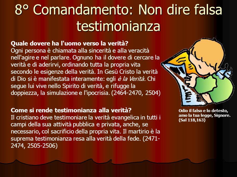 7° Comandamento: Non rubare Per Riflettere … Dice il settimo comandamento: Non rubare (Esodo 20,15).