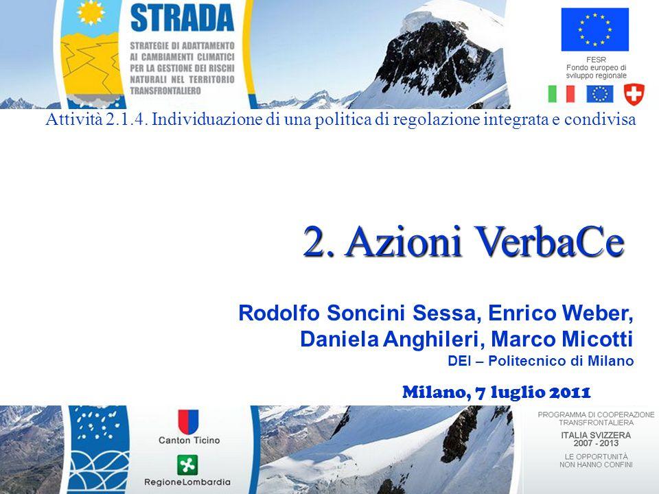 Milano, 7 luglio 2011 Rodolfo Soncini Sessa, Enrico Weber, Daniela Anghileri, Marco Micotti DEI – Politecnico di Milano 2.