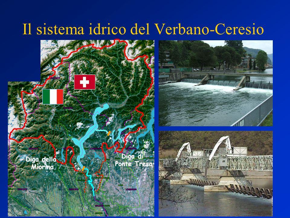 Il sistema idrico del Verbano-Ceresio Diga della Miorina Diga di Ponte Tresa