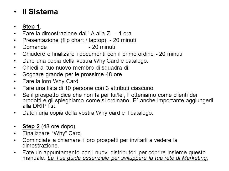Il Sistema Step 1.