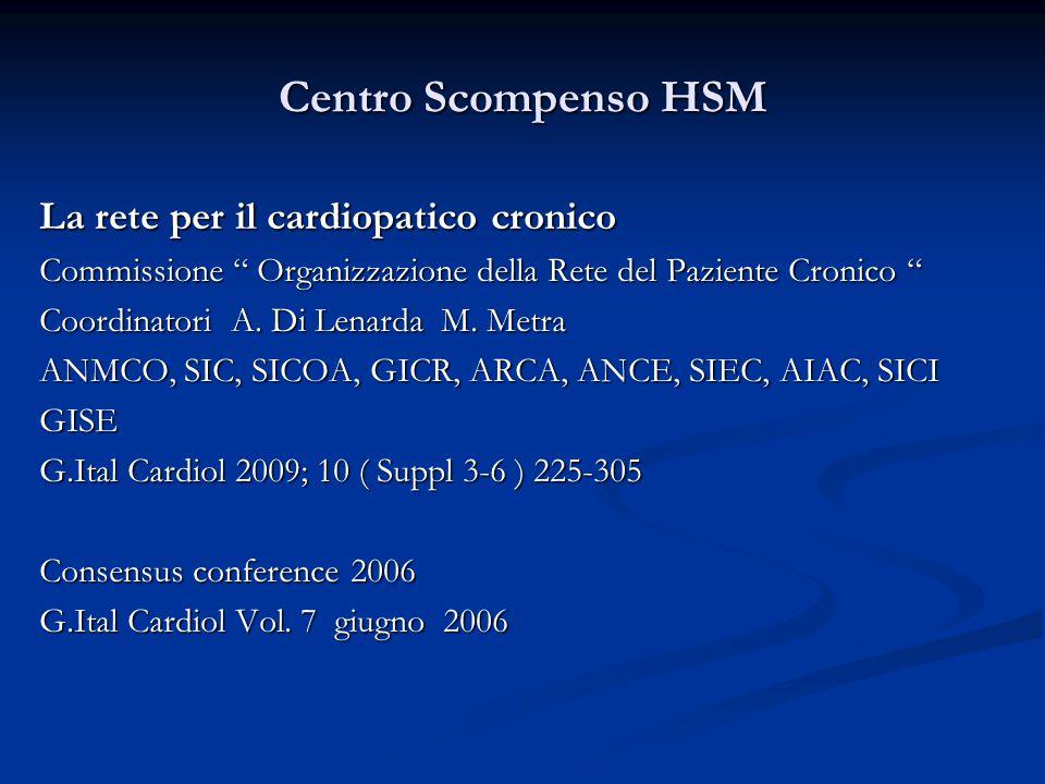 """La rete per il cardiopatico cronico Commissione """" Organizzazione della Rete del Paziente Cronico """" Coordinatori A. Di Lenarda M. Metra ANMCO, SIC, SIC"""