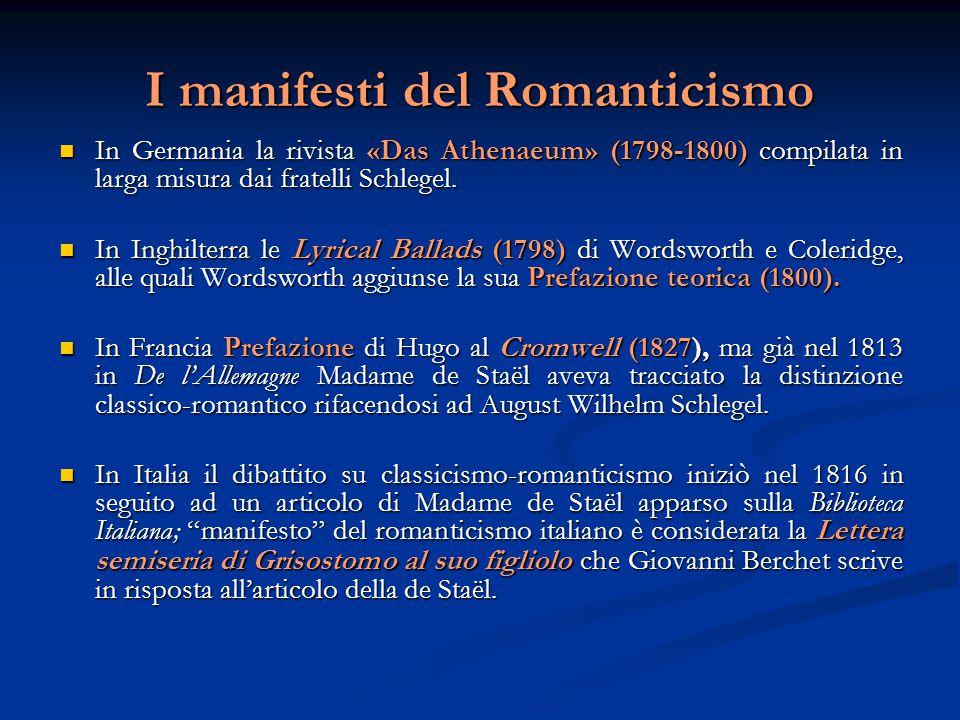 Generi letterari  Poesia patriottica;  Poesia satirica (Giusti);  Novella in versi e Ballata, particolarmente amata dal pubblico.