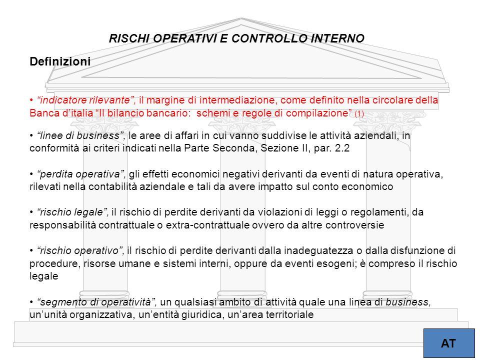 """8 """"indicatore rilevante"""", il margine di intermediazione, come definito nella circolare della Banca d'italia """"Il bilancio bancario: schemi e regole di"""