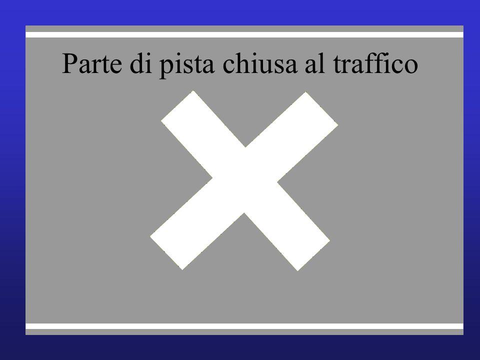 Parte di pista chiusa al traffico