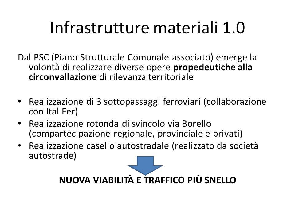 Infrastrutture materiali 1.0 Dal PSC (Piano Strutturale Comunale associato) emerge la volontà di realizzare diverse opere propedeutiche alla circonval