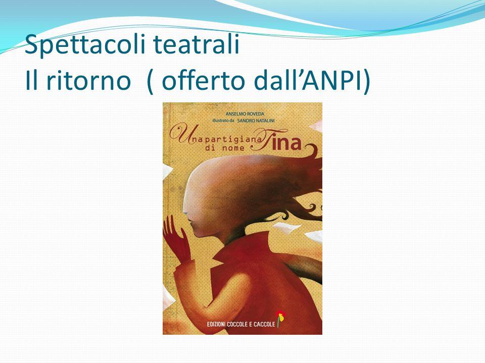 Spettacoli teatrali Il ritorno ( offerto dall'ANPI)