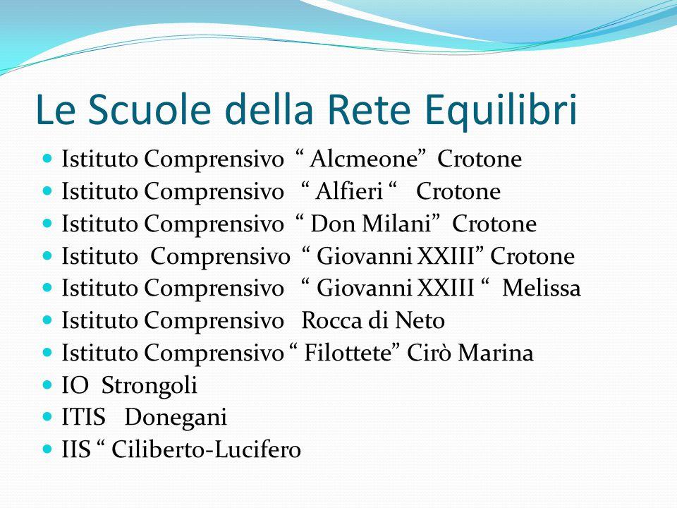 """Le Scuole della Rete Equilibri Istituto Comprensivo """" Alcmeone"""" Crotone Istituto Comprensivo """" Alfieri """" Crotone Istituto Comprensivo """" Don Milani"""" Cr"""