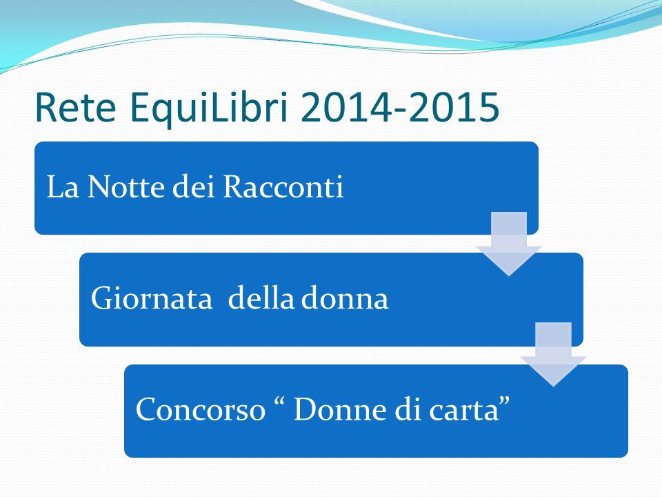 """Rete EquiLibri 2014-2015 La Notte dei RaccontiGiornata della donnaConcorso """" Donne di carta"""""""