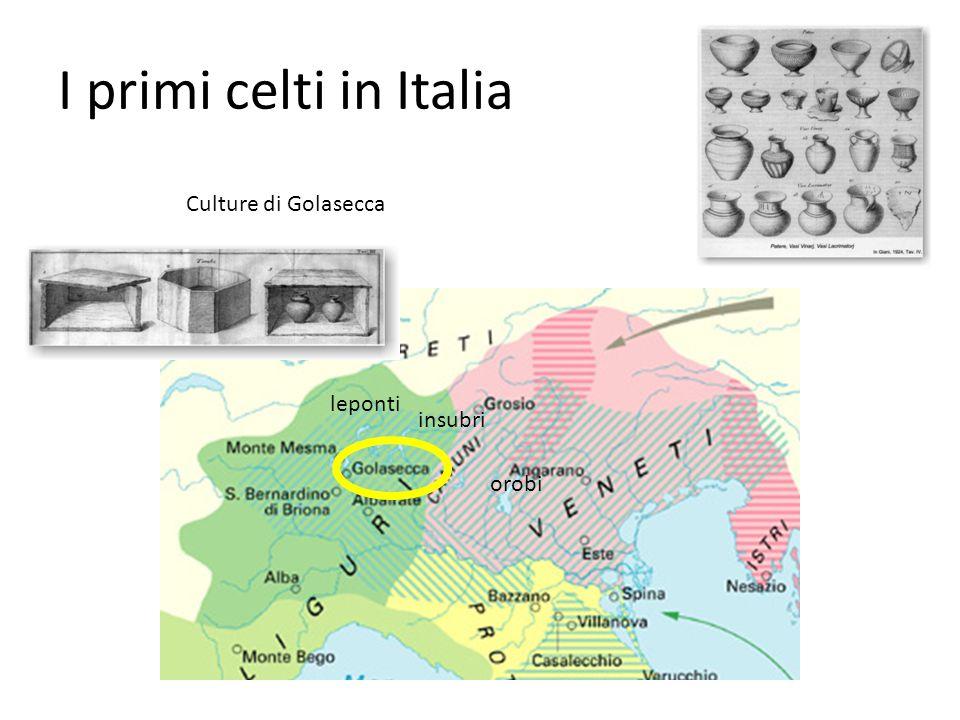 I primi celti in Italia insubri orobi leponti Culture di Golasecca