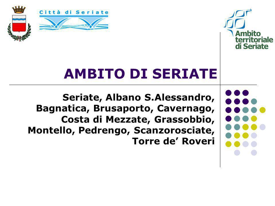 AMBITO DI SERIATE Seriate, Albano S.Alessandro, Bagnatica, Brusaporto, Cavernago, Costa di Mezzate, Grassobbio, Montello, Pedrengo, Scanzorosciate, To
