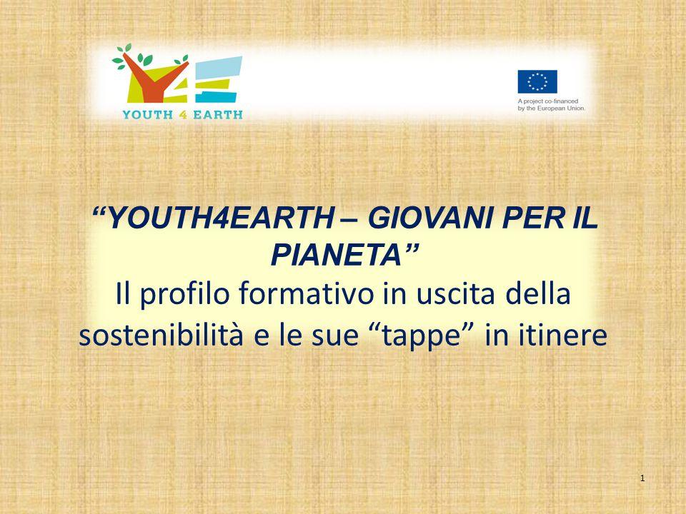 1 YOUTH4EARTH – GIOVANI PER IL PIANETA Il profilo formativo in uscita della sostenibilità e le sue tappe in itinere