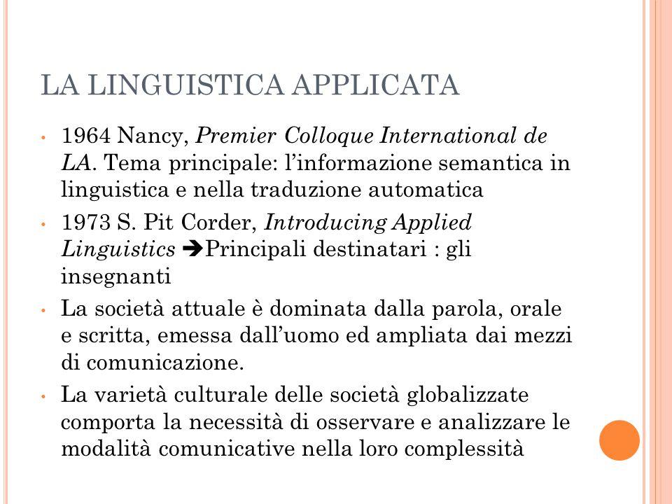 P ROSPETTIVE DI ANALISI Oggetto della riflessione può essere – l'insieme delle proprietà e delle caratteristiche universali delle lingue o la facoltà